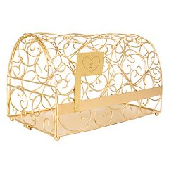 Cathy's Concepts Monogram Heart Gold-Tone Mailbox Card Holder