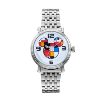 Disney's Mickey Mouse Colorblock Men's Stainless Steel Watch