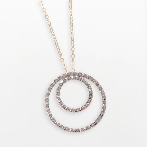 821c415ed Diamond Fascination® 14k Gold Double-Circle Pendant