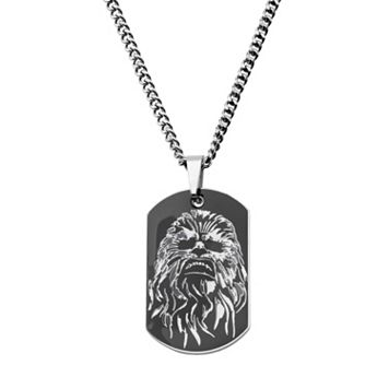 Star Wars: Episode VII The Force Awakens Men's Stainless Steel Chewbacca Dog Tag Necklace