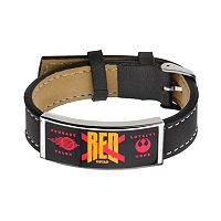 Star Wars: Episode VII The Force Awakens Men's Red Squadron Leather Bracelet