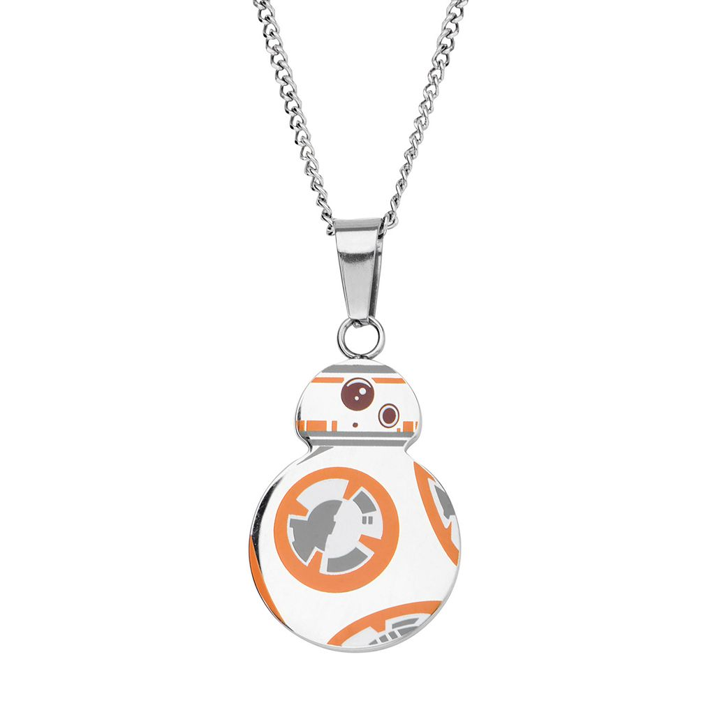 Star Wars: Episode VII The Force Awakens Men's Stainless Steel BB-8 Pendant Necklace