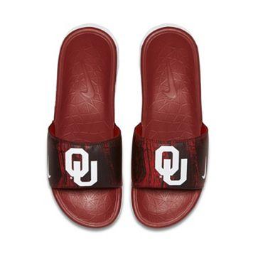 Men's Nike Oklahoma Sooners Benassi Slide Sandals