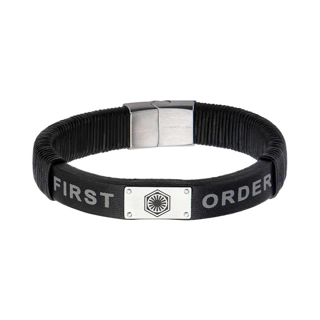 Star Wars: Episode VII The Force Awakens Men's First Order Leather Bracelet