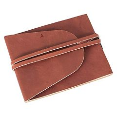 Cathy's Concepts Monogram Leather Journal Guestbook