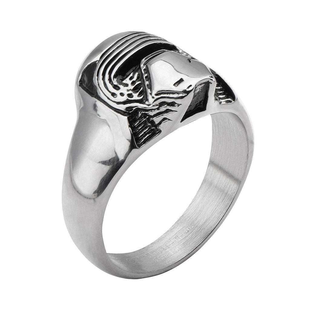 Star Wars: Episode VII The Force Awakens Men's Stainless Steel Kylo Ren Ring