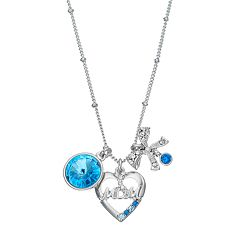 Charming Inspirations 'Mom' Heart & Bow Charm Necklace