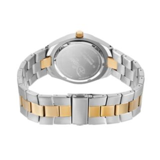 Disney's Mickey Mouse Silhouette Men's Two Tone Stainless Steel Watch