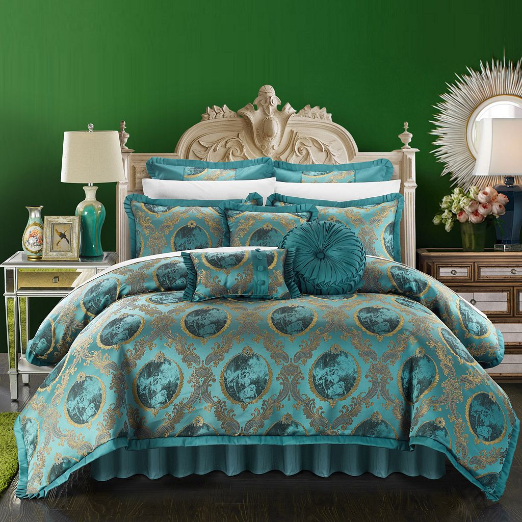 Chic Home Romeo & Juliet Jacquard 9-piece Bed Set