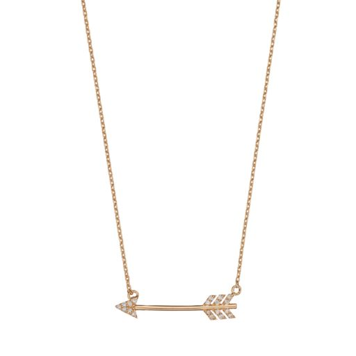 LC Lauren Conrad Cubic Zirconia Arrow Necklace