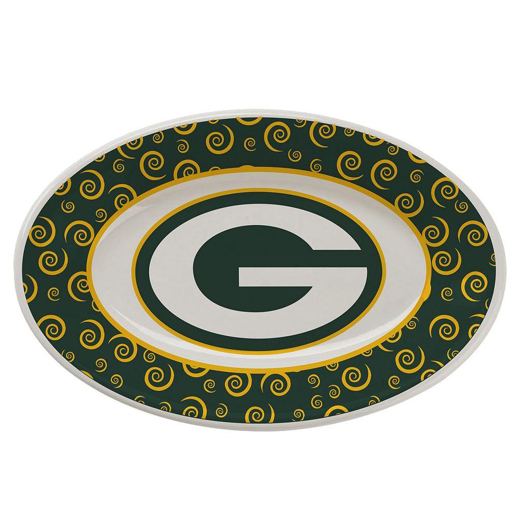 Green Bay Packers Swirl Platter