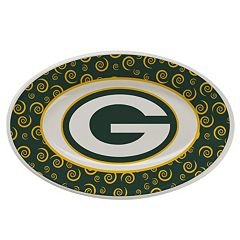 Green Bay Packers Swirl Platter