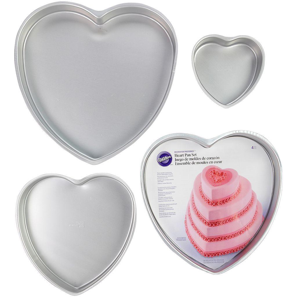 Wilton 4-pc. Heart Cake Pan Sat