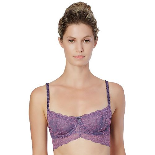 Montelle Intimates Bra: Boudoir Glamour Lace Longline Bralette 9243