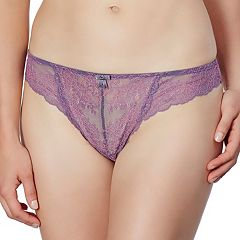 Montelle Intimates Boudoir Glamour Sheer Lace Thong Panty9245