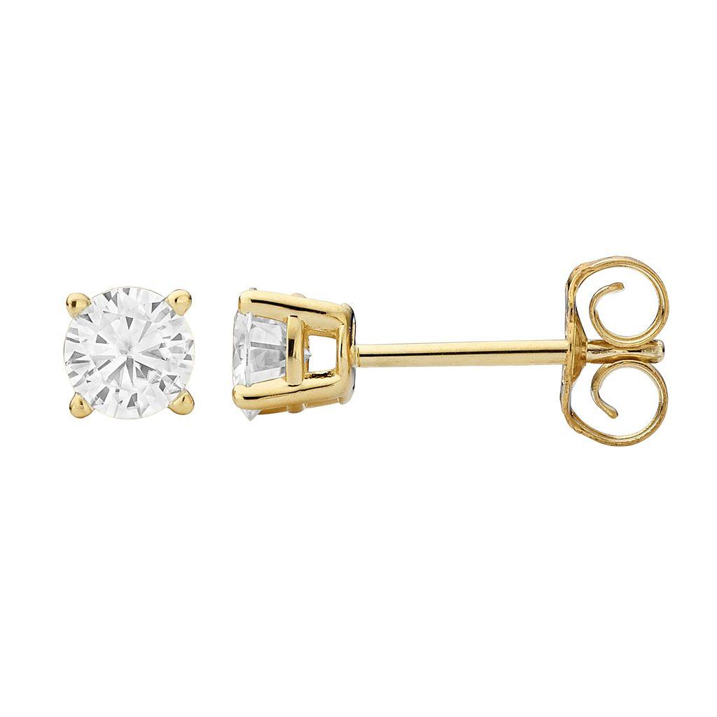 Forever Brilliant 14k Gold 3/8 Carat T.W. Lab-Created Moissanite Stud Earrings