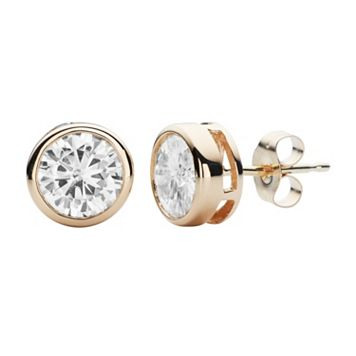 Forever Brilliant 14k Gold 1 5/8 Carat T.W. Lab-Created Moissanite Stud Earrings
