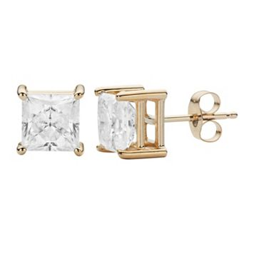 Forever Brilliant 14k Gold 2 5/8 Carat T.W. Lab-Created Moissanite Stud Earrings