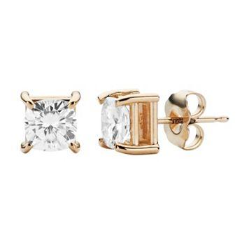 Forever Brilliant 14k Gold 1 5/8 Carat T.W. Lab-Created Moissanite Stud Earrings