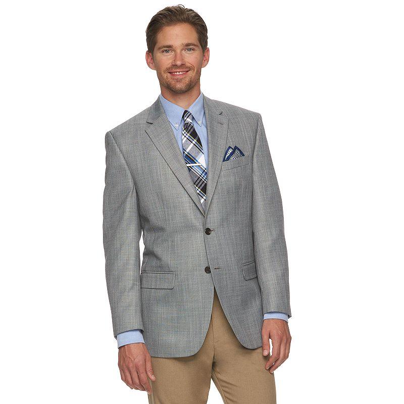 Men's Chaps Gray Classic-Fit Sport Coat