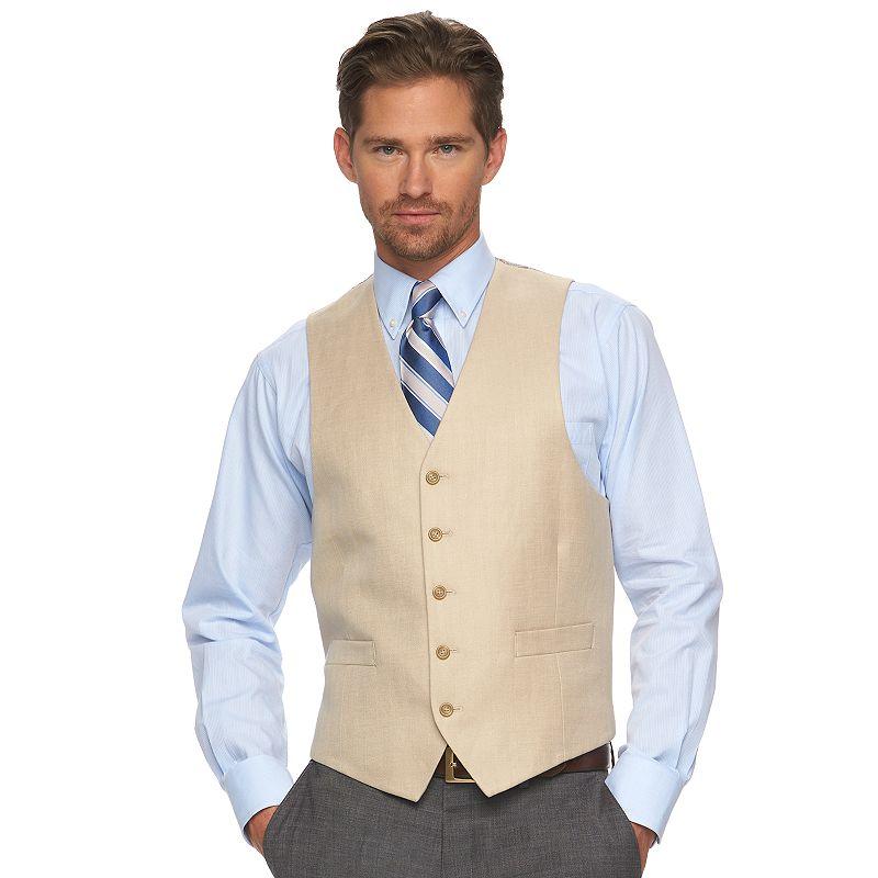 Men's Chaps Classic-Fit Tan Suit Vest