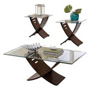 Cafe Coffee & End Table 3 pc Set