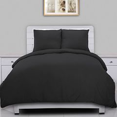 Solid Microfiber Duvet Cover Set