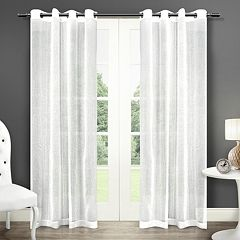 Exclusive Home 2-pack Sabrina Textured Sheer Window Curtains - 50'' x 96''