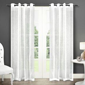 Exclusive Home 2-pack Sabrina Sheer Grommet Top Window Curtains
