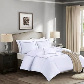 Madison Park Signature 1000 Thread Count Embroidered Cotton 4-piece Duvet Cover Set