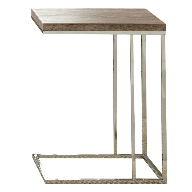 Lucia Chairside End Table, Brown