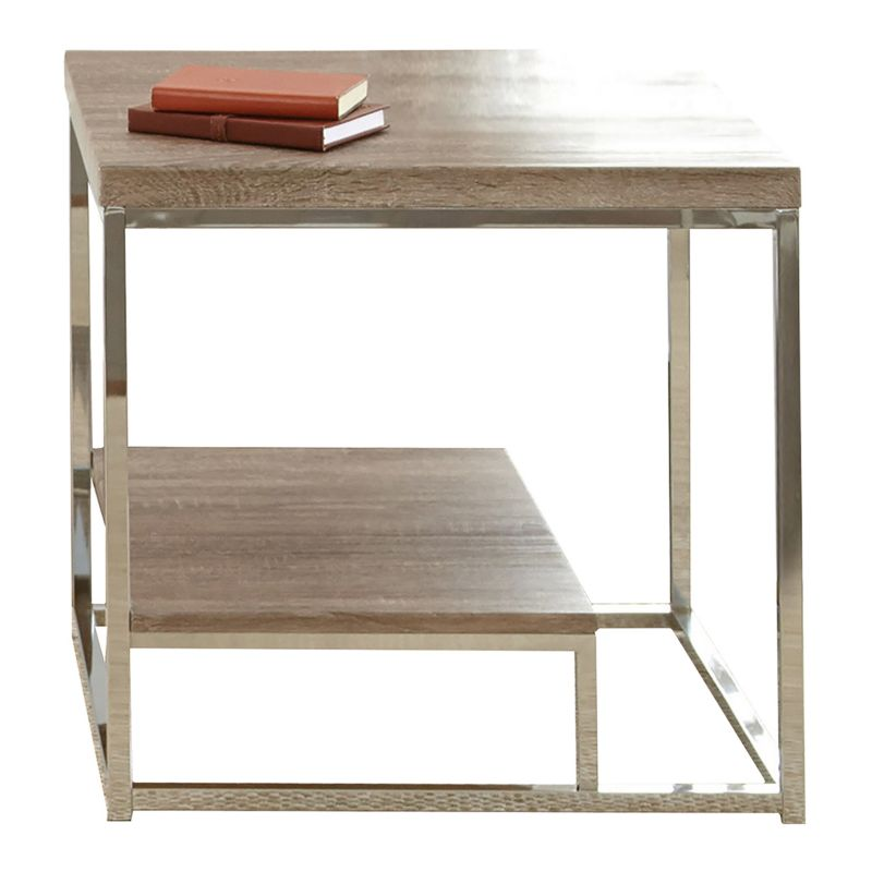 Lucia Two Tier End Table, Grey
