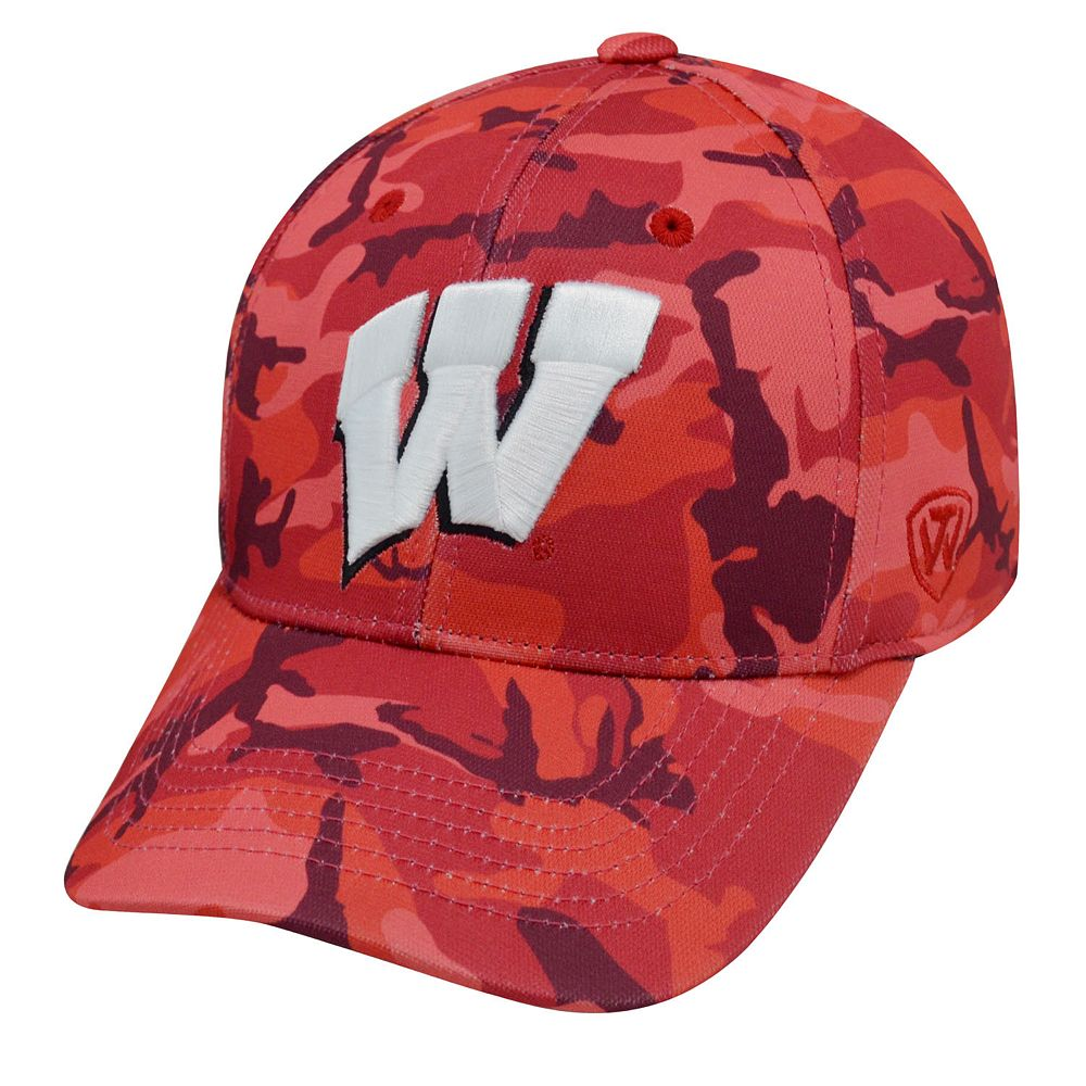 Adult Top of the World Wisconsin Badgers Gulf One-Fit Cap 66b9771b465f