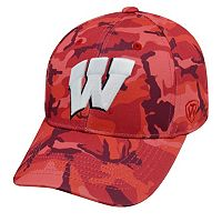 Adult Top of the World Wisconsin Badgers Gulf One-Fit Cap