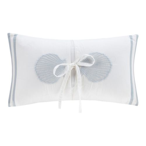 Harbor House Crystal Beach Embroidered Shell Oblong Throw Pillow