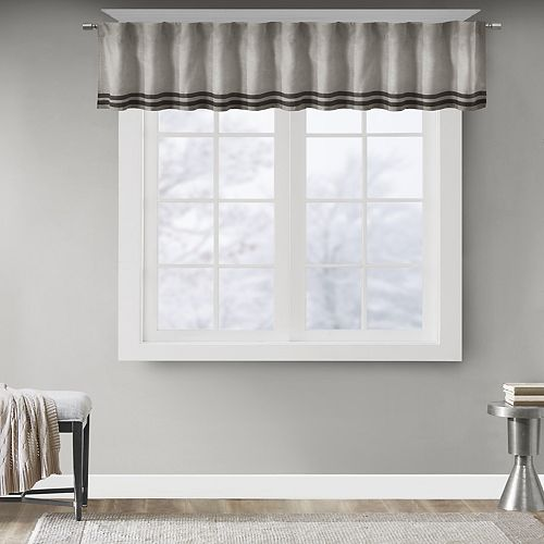 Madison Park Meyers Window Valance - 50'' x 18''