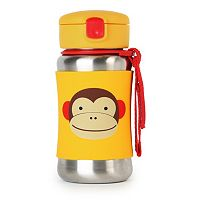 Skip Hop Zoo 12-ounce Stainless Steel Straw Bottle