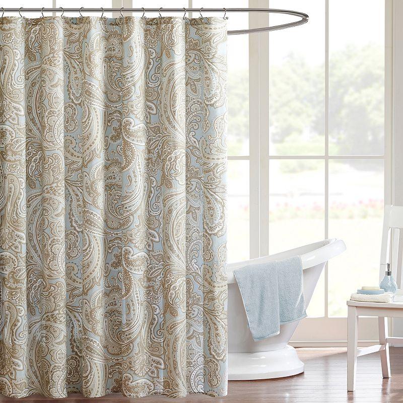 Madison Park Pure Dermot Shower Curtain. Blue. 72X72