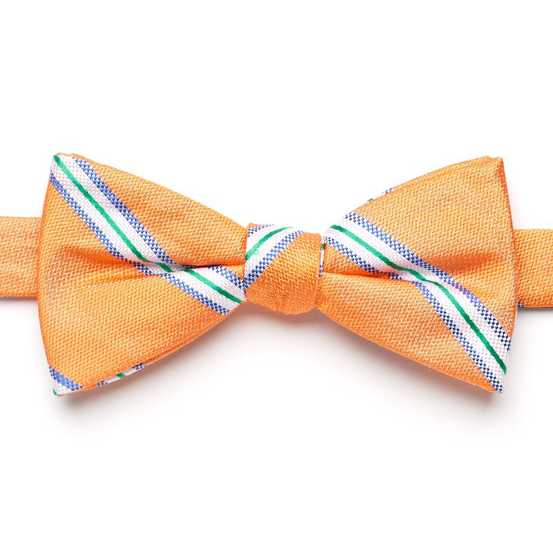 Men's Chaps Sandy Point Striped Pre-Tied Bow Tie