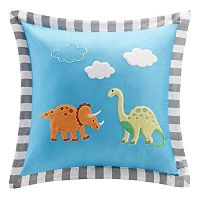 Mi Zone Kids Daring Dino Square Throw Pillow