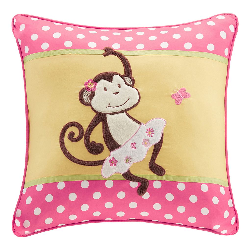 Mi Zone Kids Monkey Madness Square Throw Pillow