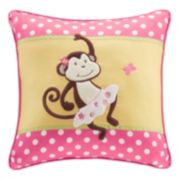 Mi Zone Kids Monkey Madness Square Throw Pillow