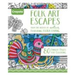 Crayola Folk Art Escapes Adult Coloring Book