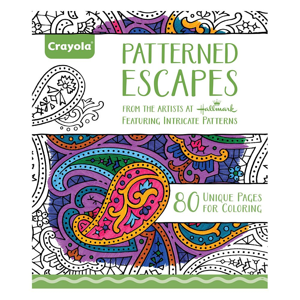 Coloring books for adults kohls - Crayola Patterned Escapes Adult Coloring Book