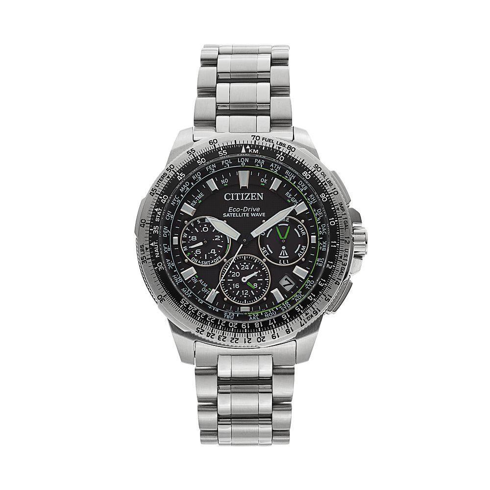 95a601ff107 Citizen Eco-Drive Men s Promaster Navihawk GPS Stainless Steel Flight Watch  - CC9030-51E