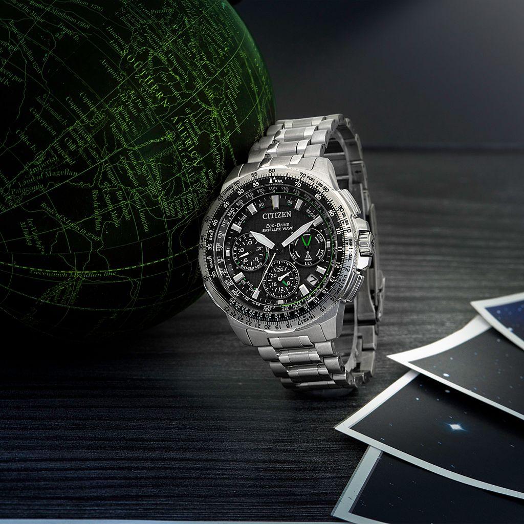 Citizen Eco-Drive Men's Promaster Navihawk GPS Stainless Steel Flight Watch - CC9030-51E