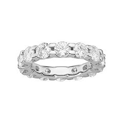 Forever Brilliant 14k White Gold 4 5/8 Carat T.W. Lab-Created Moissanite Eternity Ring