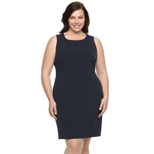 Plus Size Briggs Scoopneck Sheath Dress