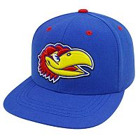 Adult Top of the World Kansas Jayhawks Flat-Bill Cap