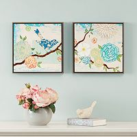 Intelligent Design Blooming Florals 2 pc Wall Art Set